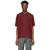 Red And Black All Over 'Forever Fendi' Shirt