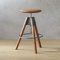 Cb2 Revolution Adjustable Bar Stool