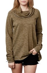 O'neill Women's Moss Cotton Pullover Military Olive