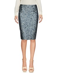 Bouchra Jarrar Knee Length Skirts Slate Blue