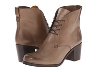 Frye Kendall Chukka Charcoal Smooth Full Grain Women's Lace Up Boots Brown