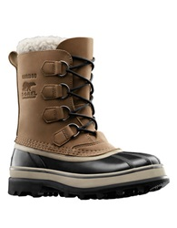 Sorel Caribou Waterproof Leather Boots Beige