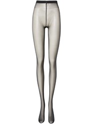Burberry Monogram Motif Seamed Tights Black