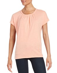 Lord And Taylor Pintucked Tee Solar