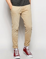 Abercrombie And Fitch Skinny Stretch Chino In Light Kelp Light Kelp Beige