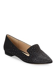 Saks Fifth Avenue Kaida Sueded Fabric Flats Black