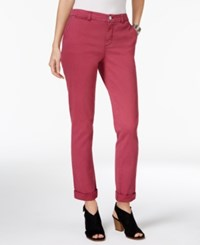 Styleandco. Style Co. Chino Boyfriend Pants Only At Macy's Pale Raspberry