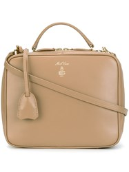 Mark Cross Zipped Tote Nude And Neutrals