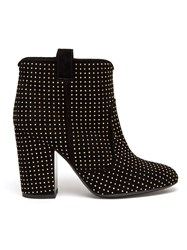 Laurence Dacade 'Pete' Studded Suede Ankle Boots Black