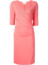 Nicole Miller V Neck Dress Pink And Purple
