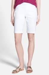 Jag Jeans Petite Women's 'Ainsley' Slim Bermuda Shorts White