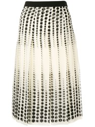 Giambattista Valli Pleated Midi Skirt Neutrals