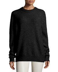 The Row Oversized Cashmere Blend Sweater Black