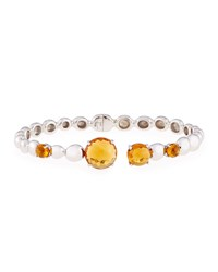 Molten Hinge Bangle With Citrine Michael Aram