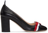 Thom Browne Black Wholecut Bow Heels