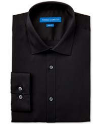 Vince Camuto Slim Fit Sateen Dress Shirt Black