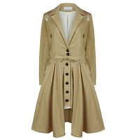 A M M E Pale Camel Cashmere And Gold Riding Coat Nude Neutrals