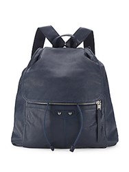 Balenciaga Textured Leather Backpack Navy
