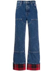Alexander Wang Checkered Trim High Rise Flared Jeans 60