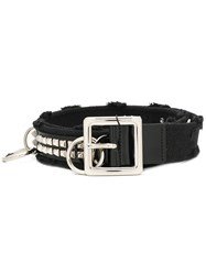 Philipp Plein Punk Style Belt Black