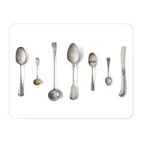 Michael Angove 'Cutlery' Placemat White