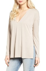 Lush Women's High Low Tee Lt Taupe