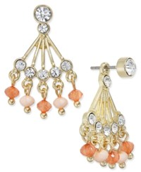 Inc International Concepts Gold Tone Beaded Fan Earring Jacket Earrings Only At Macy's