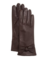 Kate Spade Lamb Leather Bow Gloves Black