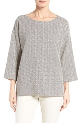 Eileen Fisher Women's Chevron Print Cotton Blend Top