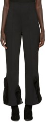 Toga Black Bonded Jersey Trousers