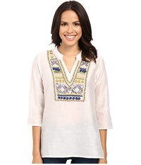 Tommy Bahama Castello Voille Tunic White Women's Blouse