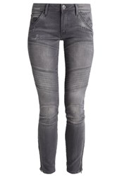G Star Gstar 5620 3D Custom Ankle Zip Mid Skinny Slim Fit Jeans Slander Grey Superstretch Grey Denim