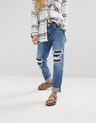 Lovers Friends Ezra Slim Boyfriend Jeans Cypress Blue