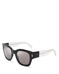 Marc By Marc Jacobs Thick Rim Square Sunglasses Black Crystal Gray