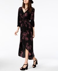 American Rag Juniors' Floral Print High Low Dress Created For Macy's Classic Black Combo