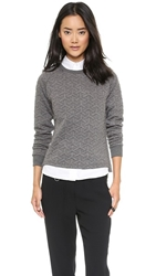 Shades Of Grey By Micah Cohen Quilted Sweatshirt Grey