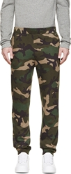 Valentino Green Camo Lounge Pants