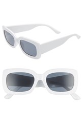 Leith Thick Rectangle Sunglasses White