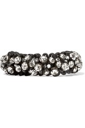 Isabel Marant Braided Cord And Crystal Bracelet Black
