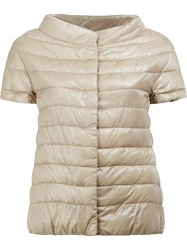 Herno Cap Sleeve Padded Jacket Nude Neutrals