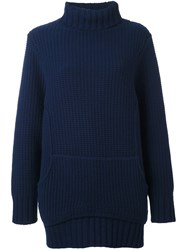Chalayan Chunky Knit Jumper Blue