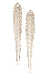 Natasha Drama Crystal Shoulder Duster Earrings Gold