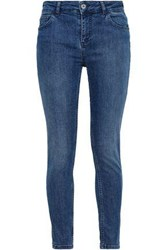 Claudie Pierlot Faded High Rise Skinny Jeans Mid Denim