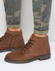 Selected Homme Trevor Leather Boots Tan
