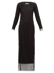 Marques Almeida Marques'almeida Long Sleeved Mesh Maxi Dress Black