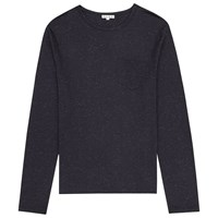 Reiss Tanker Flecked Cotton T Shirt Navy
