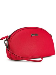 Folli Follie Saffiano Large Zip Wallet Red