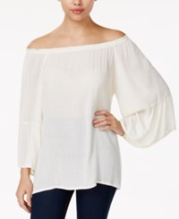 Say What Juniors' Off The Shoulder Blouse Snow White