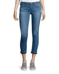 Ag Jeans The Stilt Raw Edge Cropped 21 Years Breathless Indigo