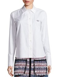 See By Chloe Button Front Solid Shirt Cloud Dancer
